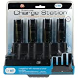 CTA Quadruple Charger Station and 4 x 1800mAh Rechargeable Batteries - MotionPlus Compatible [Black](Wii)by CTA
