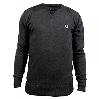 Pull Fred Perry Col V Gris Anthracite XL