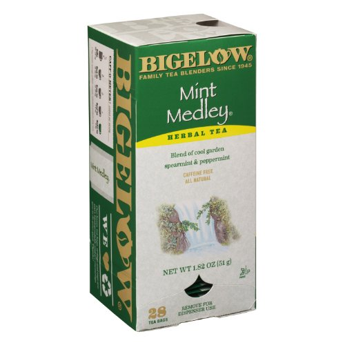 Bigelow Tea Bags, Mint Medley, 28-Count Boxes (Pack Of 6) front-525249