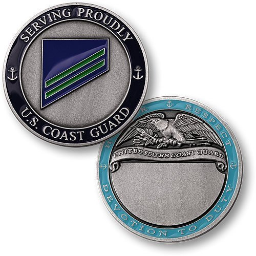 Coast Guard E-2 Airman Apprentice Engravable Challenge Coin