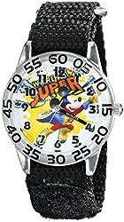 Disney Kids' W001653 Mickey Mouse Analog Watch With Black Band
