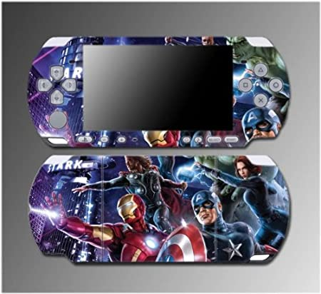 The Avengers Captain America Iron Man Thor Game Vinyl Decal Sticker Cover Skin Protector #7 for Sony PSP Slim 3000 3001 3002 3003 3004 Playstation Portable