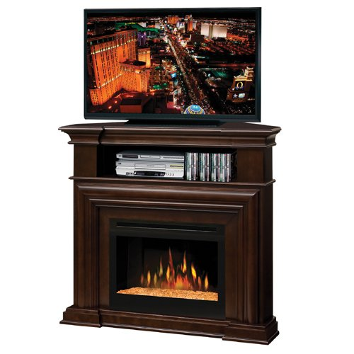 Dimplex Montgomery Electric Fireplace - Espresso with Glass Ember Bed photo B004G5EB82.jpg