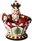 Spode Christmas Tree Peppermint Figural Nutcracker Dip Set with Spreader