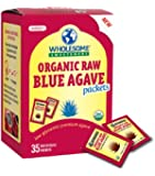 WHOLESOME SWEETENERS Organic Raw Blue Agave, 7 Gram Packets, 35-Count (Pack of 3)