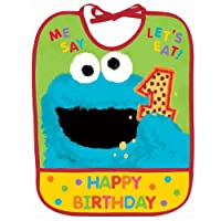 Sesame Street First Birthday Bib