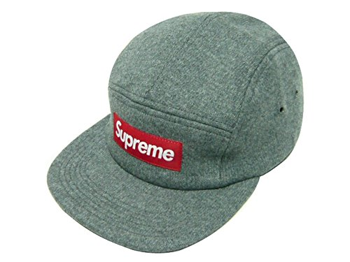SUPREME シュプリーム 2014AW Fitted Wool Knit Camp Cap グレー (M-L) キャンプキャップ