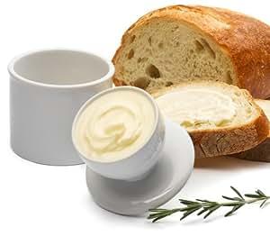 Pinzon White Ceramic Butter Keeper [Amazon Frustration-Free Packaging]