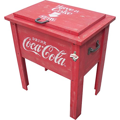 Leigh Country CP 98100 Coca Cola Vintage Cooler, 54-Quart, Red (Retro Coke Cooler compare prices)