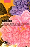 Choses dont je me souviens (French Edition) (2877305120) by Natsume, Sôseki
