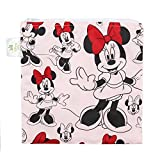 Bumkins Disney Baby Reusable Snack Bag Large, Minnie Mouse Classic