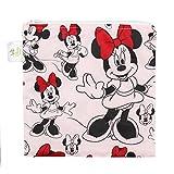 Bumkins Disney Baby Reusable Snack Bag, Minnie Classic, Large