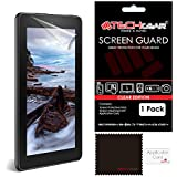 """TECHGEAR® Amazon Fire 7"""" & Fire Kids Edition 7"""" (5th Generation/2015 Release) CLEAR LCD Screen Protector With Cleaning Cloth + Application Card (NOT FOR OLDER GENERATION AMAZON TABLETS!)"""