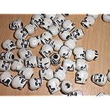 Plastic Skull Beads Halloween - 75 Pieces