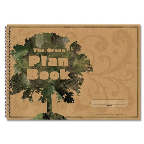 Carson-Dellosa 104300 Green Plan Book, 96 Pages, 9-1/4 in.x13 in.