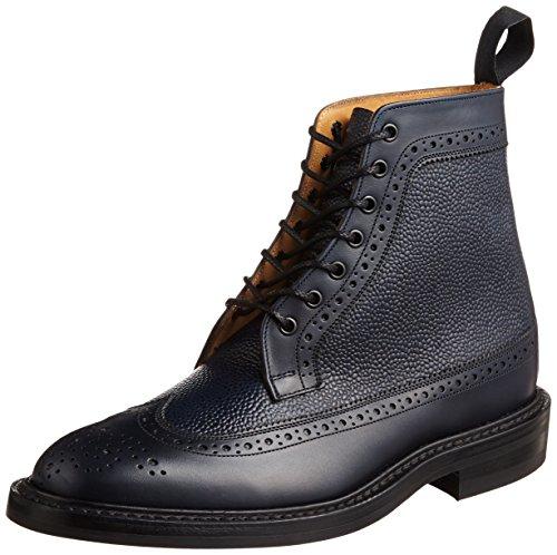 [トリッカーズ] Tricker's Tricker's Two Tone Golosh Brogue Boot  Calf / Scotch Grain -  (Dainite Sole) M7819 Navy / Navy(Navy / Navy/7)