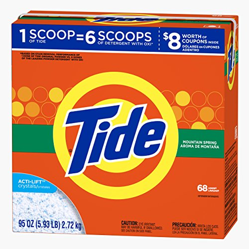 Tide Ultra Mountain Spring Scent Powder Laundry Detergent, 68 Loads, 95 oz