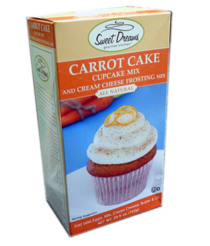 Sweet Dreams Carrot Cake Cupcake Mix and Cream Cheese Frosting Mix 25.5 oz.