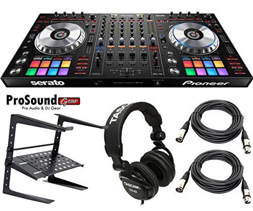 Pioneer Pro Dj Ddj-Sz Dj Professional Dj Controller - Free Tascam Hp - Laptop Stand - Xlr Cables (Pair) - (Prosoundgear Authorized Seller)