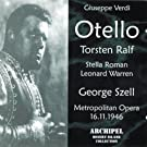 Giuseppe Verdi : Otello (Metropolitan Opera 16.11.1946)