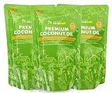 ココウェル プレミアムココナッツオイル3個セット(500mlX3個)