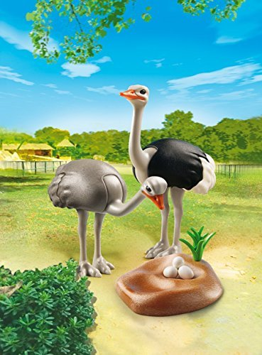 PLAYMOBIL Ostriches with Nest Building Kit by PLAYMOBILÃ'Â