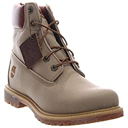 Timberland Women\'s 6 Inch Premium Fabric Boot, Tan Waxed Canvas, 7 M US