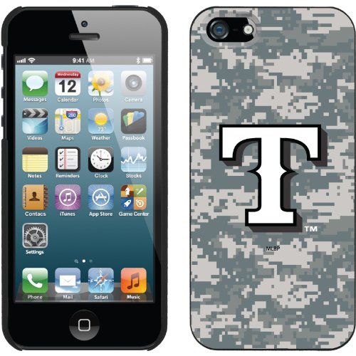 Best Price Texas Rangers - Digi Camo T design on a Black iPhone 5 Thinshield Snap-On Case by Coveroo