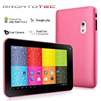 7 Inch Dual Core 1.2GHz Android 4.2.2 ProntoTec Tablet PC, Dual Camera(Pink) by ProntoTec