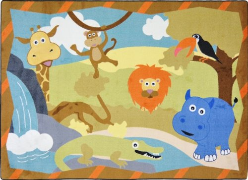 Jungle Babies Kids Rugs Area Rug 5'4