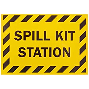 """SmartSign First Aid Sign, Legend """"Spill Kit Station"""", Black on Yellow"""