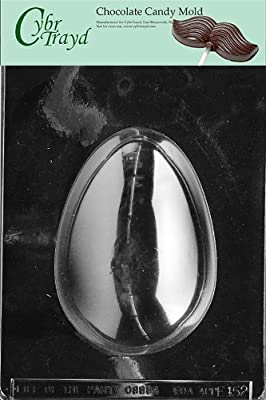 Cybrtrayd E152 1-Pound Egg Chocolate/Candy Mold with Exclusive Cybrtrayd Copyrighted Chocolate Molding Instructions