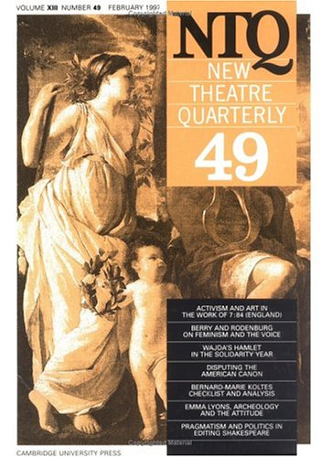 New Theatre Quarterly 49: Volume 13, Part 1: v. 13