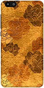 The Racoon Grip Gold Vintage Floral hard plastic printed back case / cover for Huawei Honor 4X