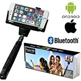 Everyday Selfie Bluetooth Extendable Monopod for Smart Phones with Mirror, Travel Bag and eBook Guide