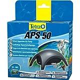 Tetra APS 50 Aquarienluftpumpe Luftpumpe Membranpumpe für Aquarien, sehr leise laufruhig leistungsstark, schwarz, mit Lufthahn zur Kontrolle des Luftstroms, ohne Luftschlauch Luftpumpenschlauch Ausströmer Rückschlagventil