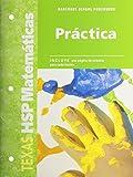 Math, Grade K Practice Workbook: Harcourt School Publishers Spanish Math Texas