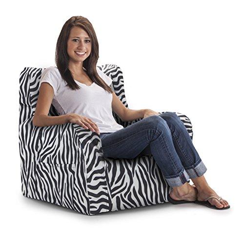 Big Joe Duo Chair Zebra Furniture Chairs Bean Bag Chairs