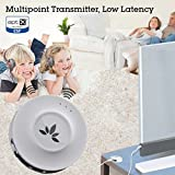 Avantree Priva Wireless Bluetooth Audio Transmitter for TV with aptX Low Latency Codec, Connects Two Headphones, White