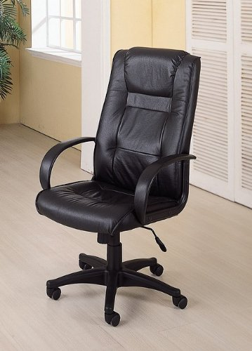 cheap black leather office chair with gas lift padded cheap desk