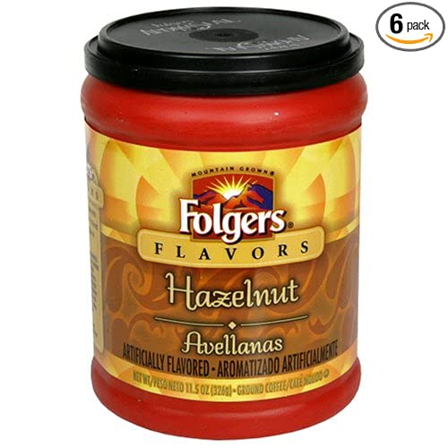 Folgers Flavors Hazelnut Ground Coffee at Amazon.com