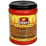 Folgers Flavors Hazelnut Ground Coffee 115 Ounce Tubs  Pack of 6