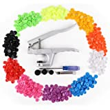 KAM Snap Pliers +150 Set T5 Snap Poppers Plastic Buttons 10 colors