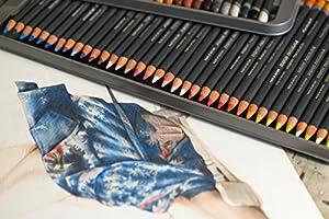 Derwent Colored Pencils, Procolour Pencils, Drawing, Art, Metal Tin, 72 Count (2302508) (Color: Multicolor, Tamaño: 72 Count)