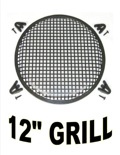 12 Inch Waffle Speaker Sub Woofer Metal Grills With Clips And Screws Dj-Car-Home
