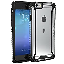 iPhone 6S Plus Case, POETIC Affinity Series Premium Thin/No Bulk/ protection where its needed/Clear/Dual material Protective Bumper Case for Apple iPhone 6S Plus / iPhone 6 Plus(Black/Clear)