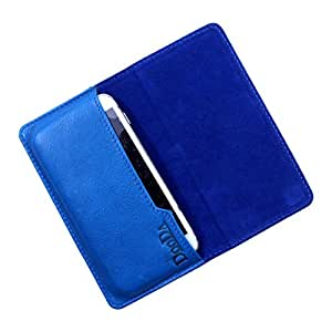 Dooda Genuine Leather Flip Pouch Case For XOLO A700s (BLUE)