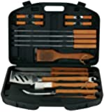 MR BAR B Q 94001X 18-Piece Stainless-Steel Barbecue Set with Storage Case