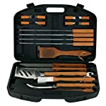 Mr. Bar-B-Q 94001X 18-Piece Stainless-Steel Barbecue Set with Storage Case