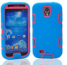 buy S4 I9500 Case, Jcmax Superior Tpu Cooperation With Hard Pc Case Soft Rubber Protective No Fading Extreme Lightweight Skin For Galaxy S4 I9500 -Blue-Red
